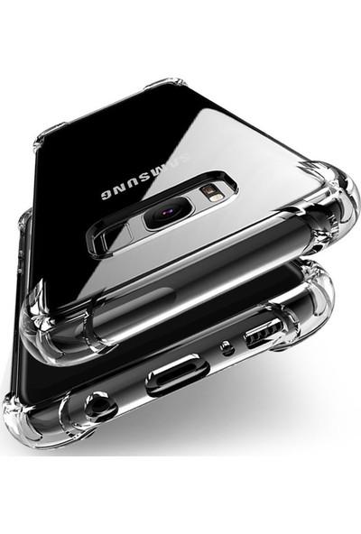 Fujimax Samsung Galaxy Note 10 Nitro 4 Köşe Antishock Silikon Kılıf - Şeffaf