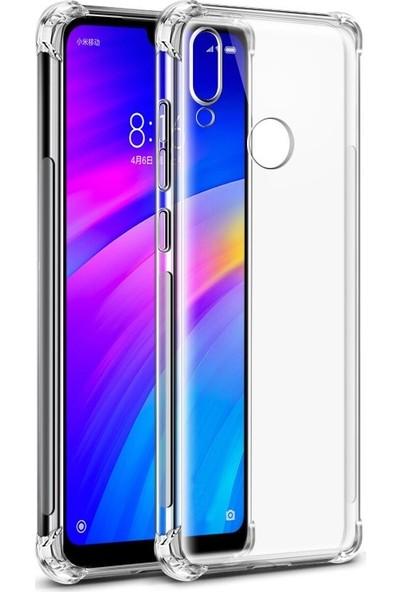 Zore Xiaomi Mi 8 Lite Nitro 4 Köşe Antishock Silikon Kılıf - Şeffaf