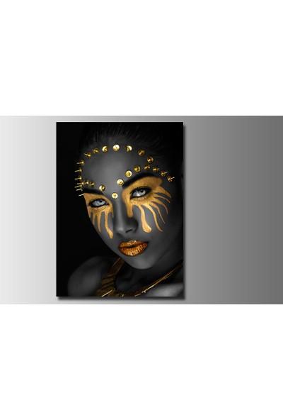 Mobilyamsitelerden Afrikalı Kadın Figürü 70 x 90 cm