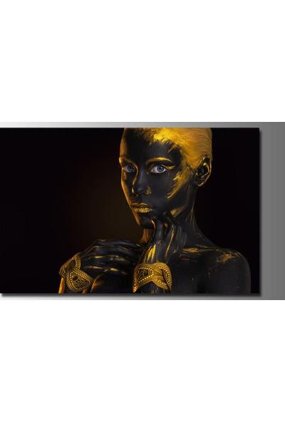 Mobilyamsitelerden Afrikalı Kadın Figürü 90 x 70 cm