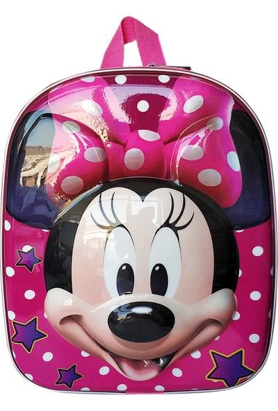 Redpoloshop Anaokulu Sırt Çantası 5D ABS Kabuk Yüzey Minnie Mouse