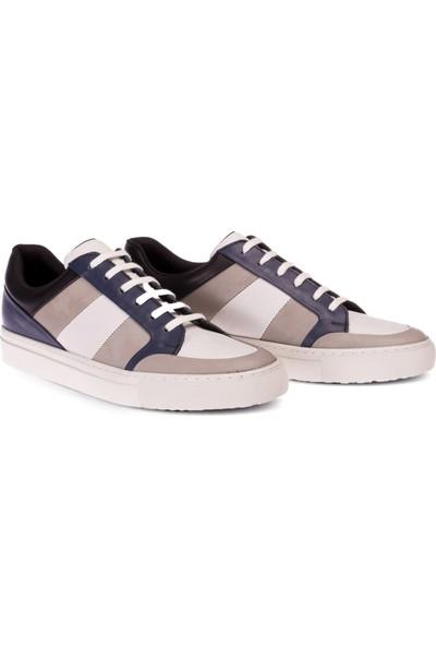 Deery Deri Beyaz Sneaker Erkek Ayakkabı