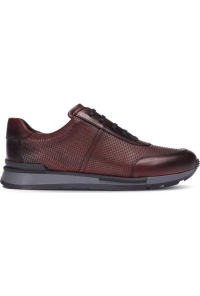 Deery Deri Bordo Sneaker Erkek Ayakkabı