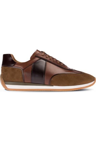 Deery Deri Kahverengi Sneaker Erkek Ayakkabı