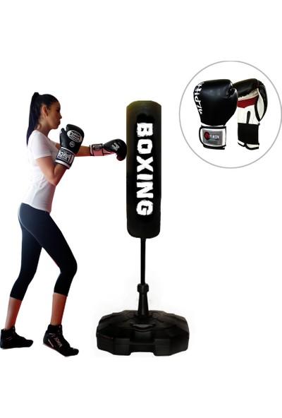 Spor Byfit 150 cm Ayaklı Yaylı Boks Vurma Standı + Boks Eldiveni