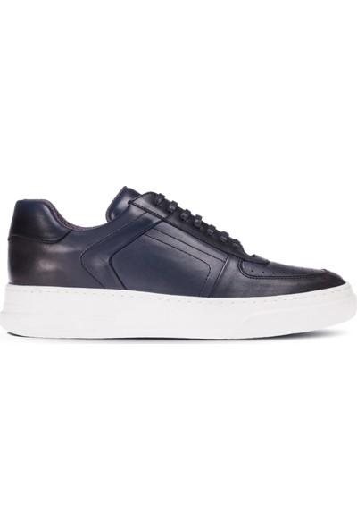 Deery Deri Lacivert Sneaker Erkek Ayakkabı