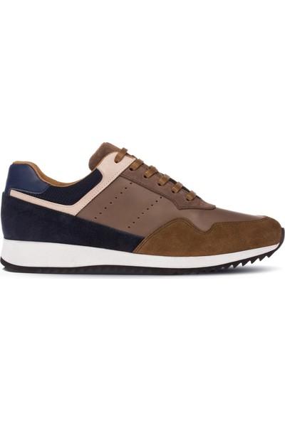 Deery Deri Özel Üretim Kahverengi Erkek Sneaker