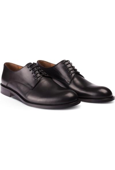 Deery Deri Özel Üretim Siyah Klasik Ayakkabı