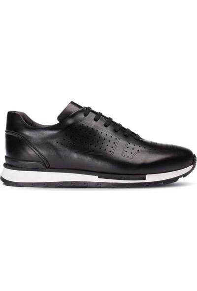 Deery Deri Siyah Erkek Sneaker