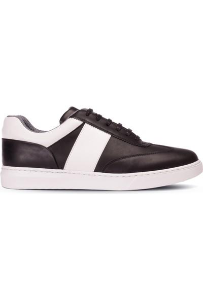 Deery Deri Siyah Sneaker Erkek Ayakkabı