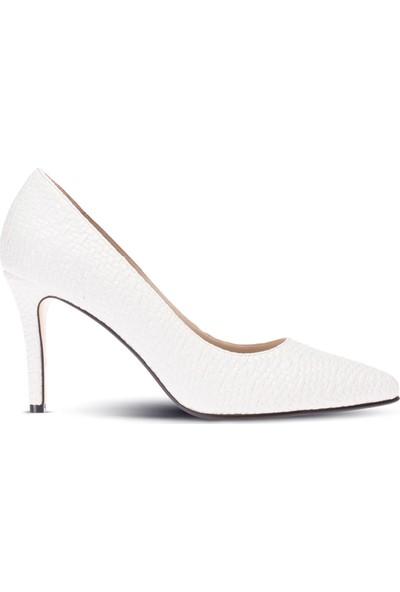 Deery Beyaz Kadın Stiletto