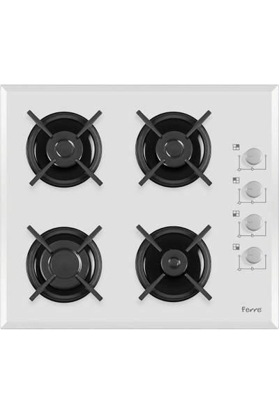 Ferre Slika Eco 3'lü Ankastre Set (2001 Beyaz Fırın + 1140 Beyaz Cam Ocak + D004 Beyaz Cam Davlumbaz)