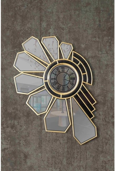Dekor Bizden Rados Aynalı Duvar Saati