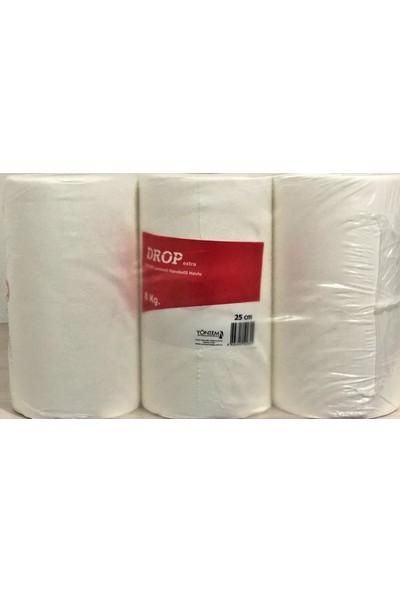 Drop Kağıt Havlu Extra Çift Lamineli 25 Cm Hareketli Havlu 6'Lı