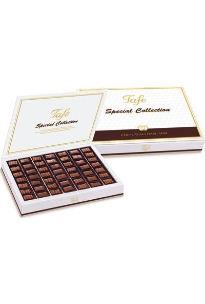 Tafe Special Collection Çikolata Kaplı Antep Fıstıklı ve Fındıklı Karışık Lokum 600 gr