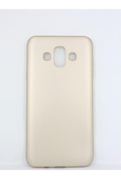Kaltel Gsm Samsung Galaxy J7 Duo Mat Premier Silikon Kılıf + USB Kablo + Nano Ekran Koruyucu - Gold