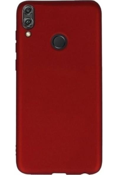 Kaltel Gsm Huawei Honor 8X Mat Premier Silikon Kılıf + USB Kablo + 5D Full Kaplayan Tam Koruma Tüm Ekran Koruyucu - Kırmızı