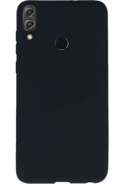 Kaltel Gsm Huawei Honor 8X Mat Premier Silikon Kılıf + USB Kablo + 5D Full Kaplayan Tam Koruma Tüm Ekran Koruyucu - Siyah