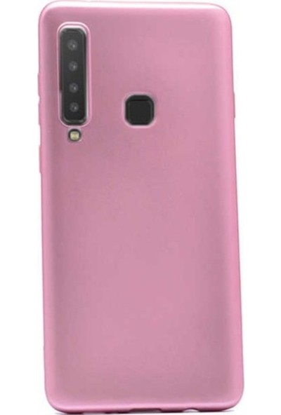 Kaltel Gsm Samsung Galaxy A9 2018 Mat Premier Silikon Kılıf + USB Kablo - Rose Gold