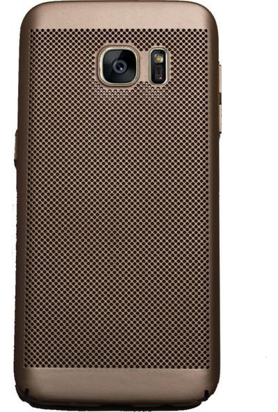 Markaavm Samsung Galaxy S7 Fileli Rubber Kılıf Gold