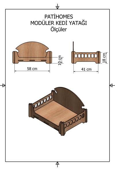 Pati Homes Modüler Ahşap Kedi Yatağı ve Köpek Yatağı