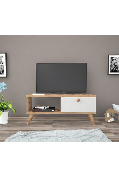 Wood'n Love Noble Tv Ünitesi- Atlantik Çam / Beyaz