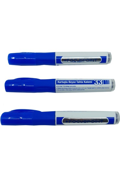 Focuspoint Tahta Kalemi 3'lü Set Mavi Renk