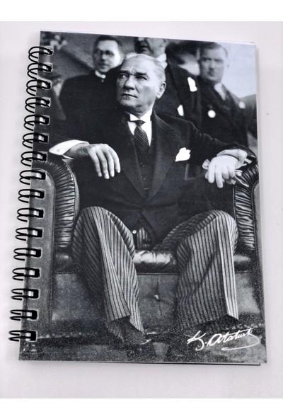 Atatürk A6 80 Yaprak Spr Çizgili Plastik Kapak Not Defteri