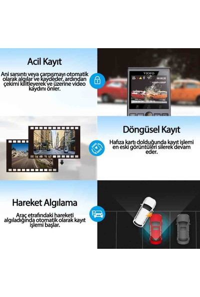 Viofo A129 Pro 4K Gps'li Akıllı Araç Kamerası