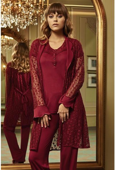 Barina 764 Kadın Cotton Hamile / Lohusa Üçlü Pijama Seti