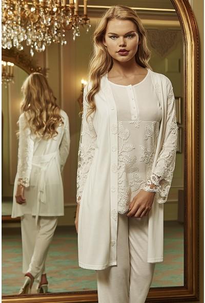 Barina 768 Kadın Cotton Hamile / Lohusa Üçlü Pijama Seti