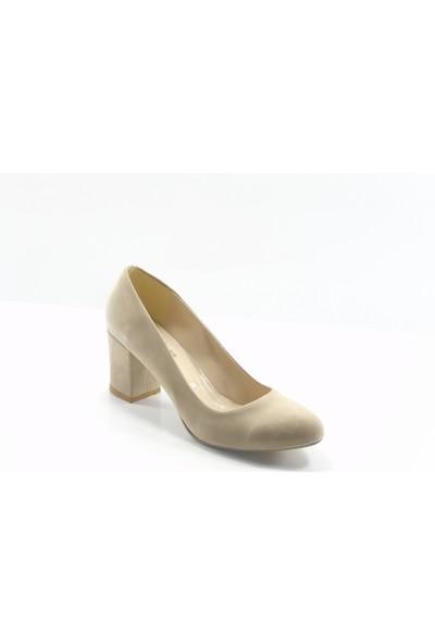 Stella Di More By Ercan Ten Süet Büyük Numara Kadın Topuklu Ayakkabı