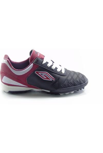 Dugana Siyah Kırmızı Bağcıklı Çocuk Halısaha Ayakkabısı