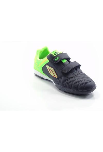 Dugana Siyah Yeşil Cırtlı Çocuk Halısaha Ayakkabısı
