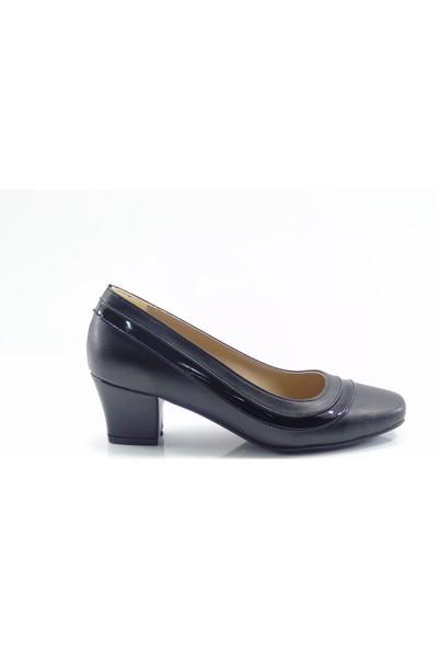 Stella Di More By Ercan 2260 Siyah Cilt Kadın Topuklu Ayakkabı