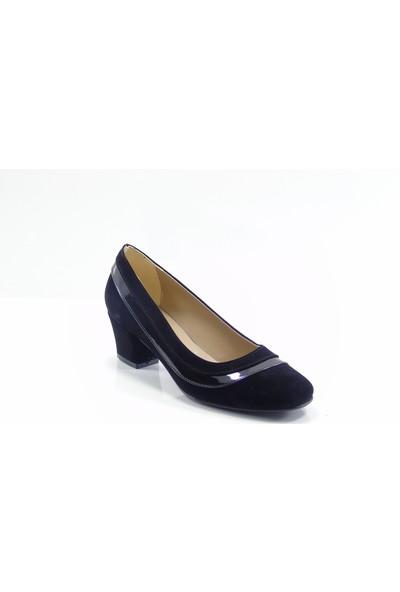 Stella Di More By Ercan 2260 Siyah Süet Kadın Topuklu Ayakkabı