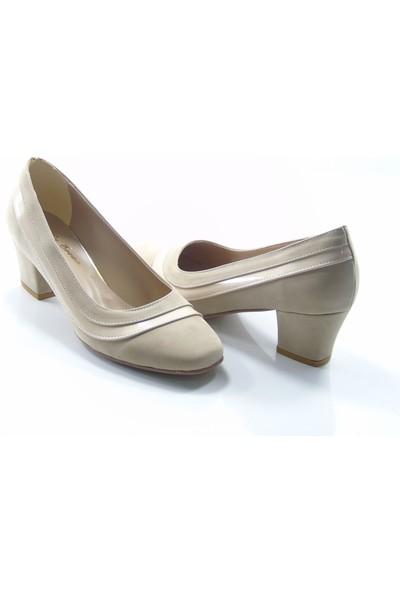 Stella Di More By Ercan 2260 Vizon Süet Kadın Topuklu Ayakkabı
