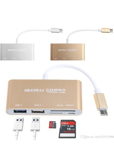 Nivatech Type-C USB Hub - Card Reader Combo OTG