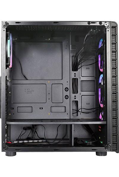 Rampage Raider 4x12 cm 5 Renk Fan Oyuncu Bilgisayar Kasası