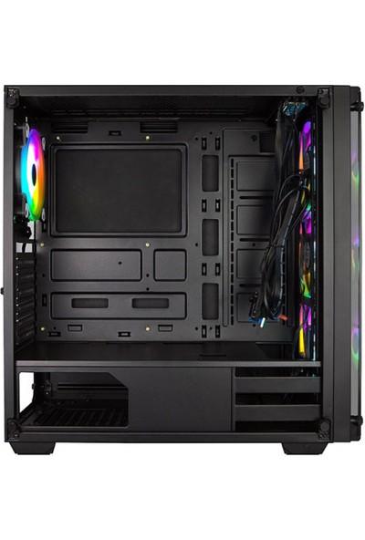 Xigmatek EN41893 Venom X 650W CE 80Plus X-Power 4x12cm RGB Fan Temperli Cam Oyuncu Bilgisayar Kasası