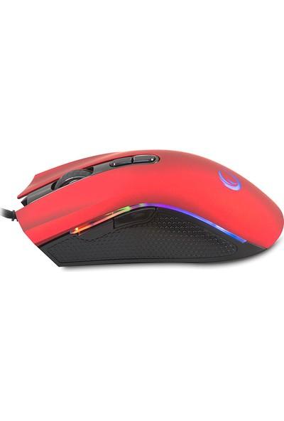 Rampage SMX-R44 Makrolu 6400DPI RGB Ledli Oyuncu Mouse - Kırmızı