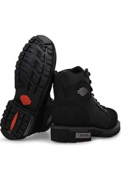 Harley Davidson Clemente Siyah Deri Erkek Bot