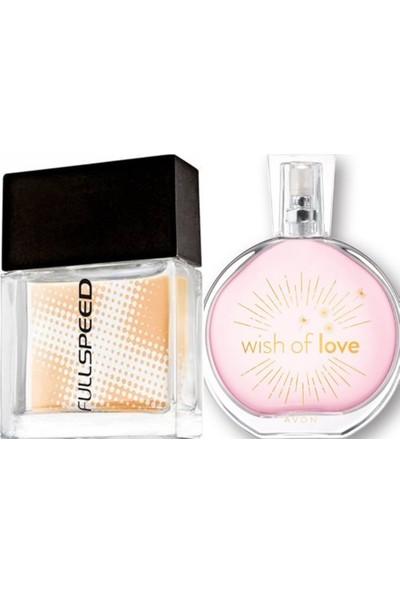 Avon Wish Of Love 50 ml Bayan Edp+Avon Fullspeed 30 ml Erkek Edt