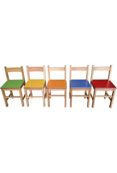 Montessori Anaokulu Sandalyesi 5'li