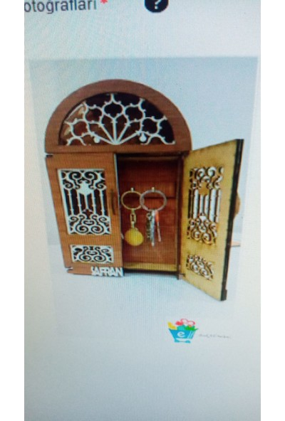 Bakal Online Safranboluya Özel El Yapımı Dekorasyon Ahşap Kapı Anahtarlığı