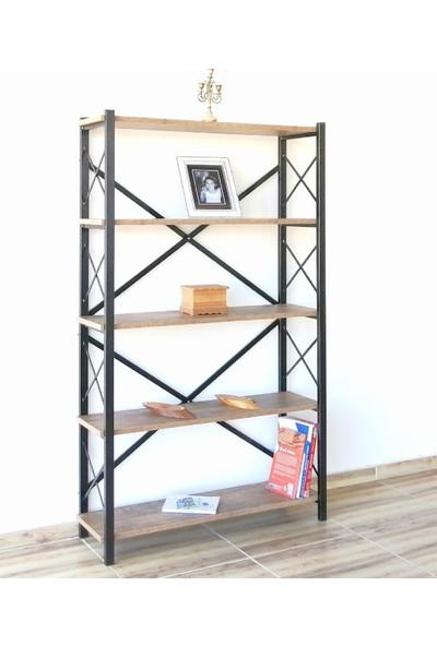 İzzetoğulları Metal Ahşap Kitaplık Raf Seti Ofis Büro K040