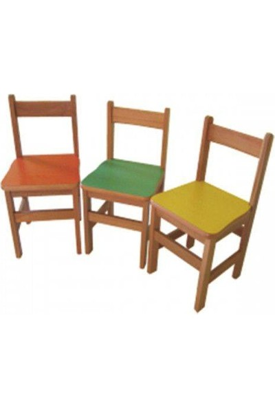 Montessori Anaokulu Sandalyesi 3 Adet
