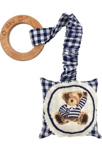 Asu Baby&Kids Vintage Ayı Lacivert Diş Kaşıyıcı