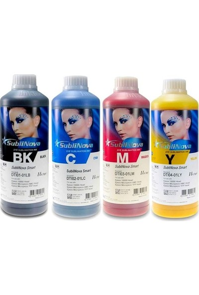 InkTec Epson Dtı Sublinova Mürekkep 4 x 1 lt 4 Renk