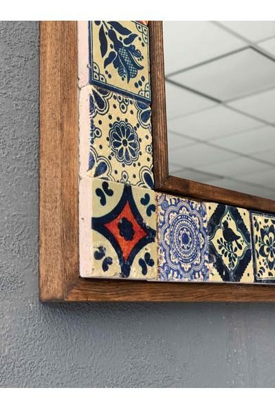 Oscar Stone Decor Çerçeveli Mozaik Doğaltaş Ayna